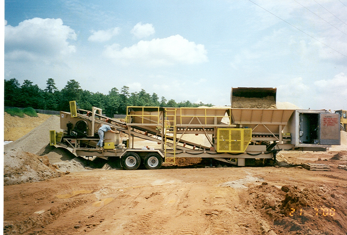 Golf Course Sand Portable Blending Plant